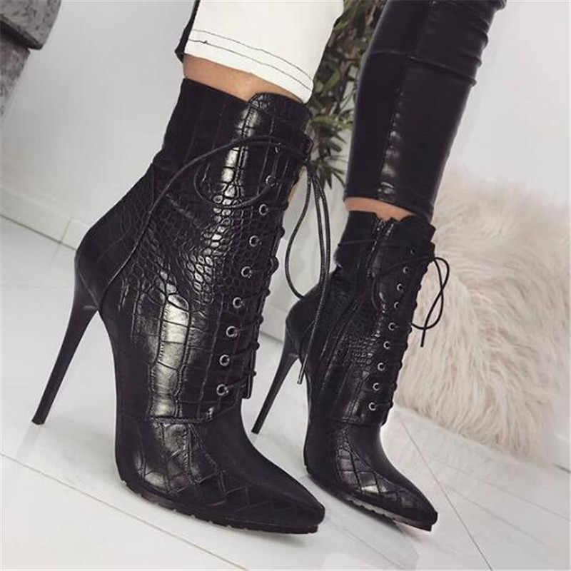 BBZAI yeni desen avrupa ve amerika kadın çizmeler 12cm yüksek topuklu gece kulübü ayakkabı konfor moda gösterisi şişeler hiver abd 4-11