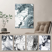 Abstract Ink Style Marble Texture Wall Art Nordic Black White Canvas Painting Posters and Prints Pictures Living Room Home Decor