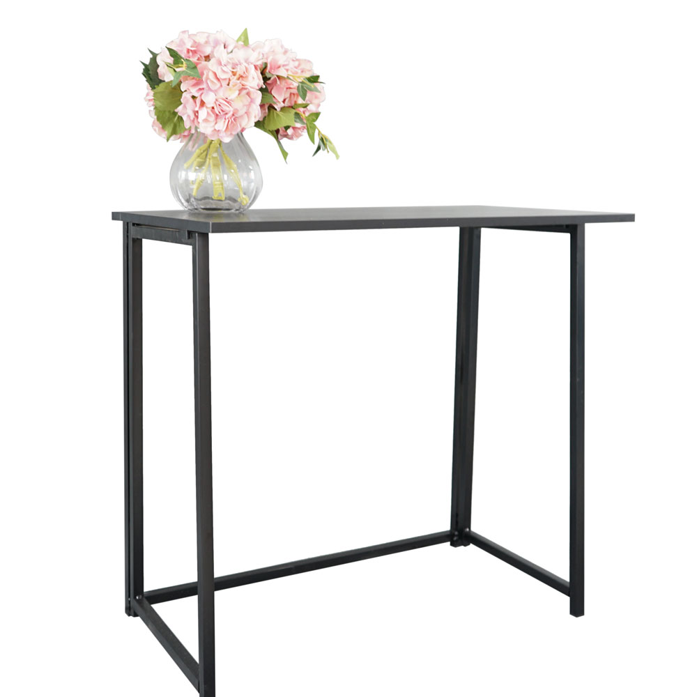 【US Warehouse】Simple Collapsible Computer Desk Black(Computer Desk Table)