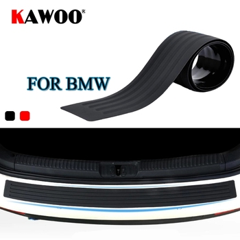 KAWOO For BMW X1 X3 X5 X6 F15 F16 F20 F25 E83 E70 E84 E53 Rubber Rear Guard Bumper Protect Trim Cover Sill Mat Pad Car Styling image