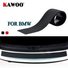 KAWOO para BMW X1 X3 X5 X6 F15 F16 F20 F25 E83 E70 E84 E53 de goma para parachoques protector trasero proteger Trim cubierta de ventana Mat Pad estilo de coche