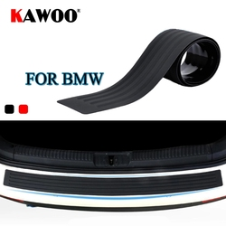 KAWOO For BMW X1 X3 X5 X6 F15 F16 F20 F25 E83 E70 E84 E53 Rubber Rear Guard Bumper Protect Trim Cover Sill Mat Pad Car Styling