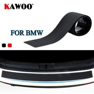 KAWOO For BMW X1 X3 X5 X6 F15 F16 F20 F25 E83 E70 E84 E53 Rubber Rear Guard Bumper Protect Trim Cover Sill Mat Pad Car Styling