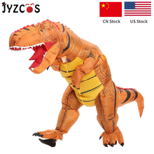 JYZCOS Adult Inflatable Dinosaur Costume t-rex Dinosaur Cosplay Costume Halloween Costume for Women Men Party Inflatable Costume