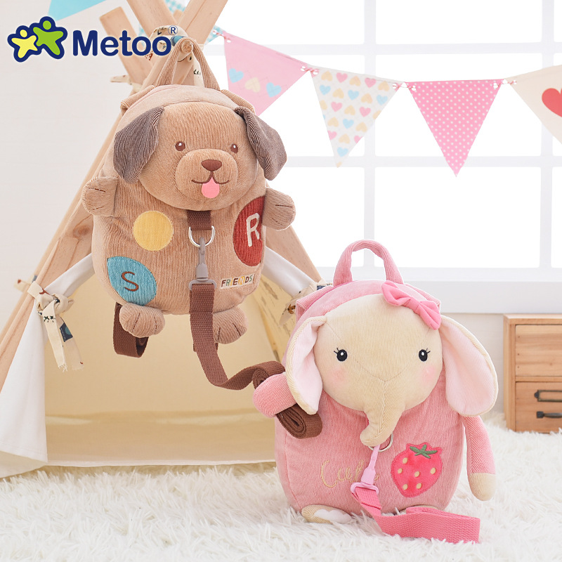 Meoomi lapin sac à dos Anti-perte pour enfants avec sac en corde de Traction sac Anti-perte bébé 1-3 ans - 2