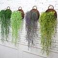 Искусственный искусственный цветок из шелка лоза садовое украшение подвесная гирлянда растения искусственные зеленые растения для дома и ...