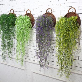 Sztuczne jedwabne sztuczne kwiaty dekoracje ogrodowe wiszące rośliny Garland sztuczne rośliny zielone dom ogrodowa dekoracja ślubna tanie i dobre opinie CN (pochodzenie) 1 pc Z tworzywa sztucznego Winorośli