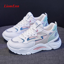 Fashion Women's Sneakers 2021 Platform Sports Shoes Summer White Sneakers Vulcanized Casual Shoes Designer Tennis Female Basket