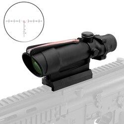 5x35 ACOG Стиль охотничьи прицелы красные оптоволоконный прицел Reticles настоящая оптика тактический прицел для охоты