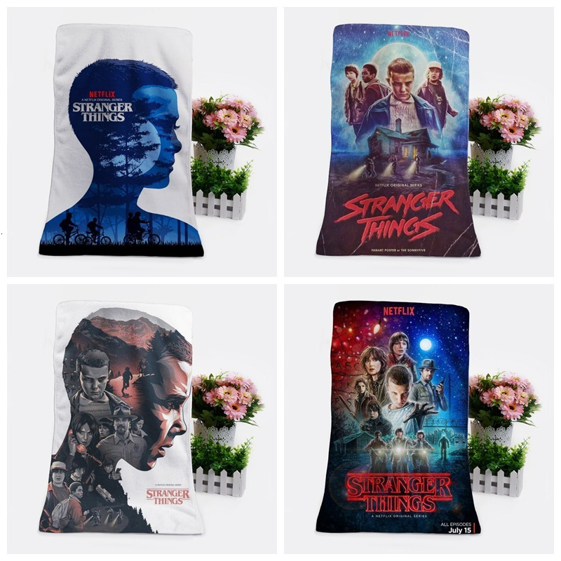 2019 Stranger Things Towel Fans Respond To Aid Periphery One's Face A Piece Of Cloth Exceed Fine Fiber Banner Towel Towel Wash