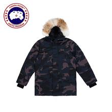Kanada gęś oryginalna Langford Parka męska zimowa ciepła kaczka dół kurtki kurtki śnieg z kapturem płaszcz wspinaczka ponad rozmiar kanada tanie tanio CANADA GOOSE DE (pochodzenie) REGULAR 13 Canada Goose Langford Parka Na co dzień zipper Pełna Zamki Grube Suknem COTTON