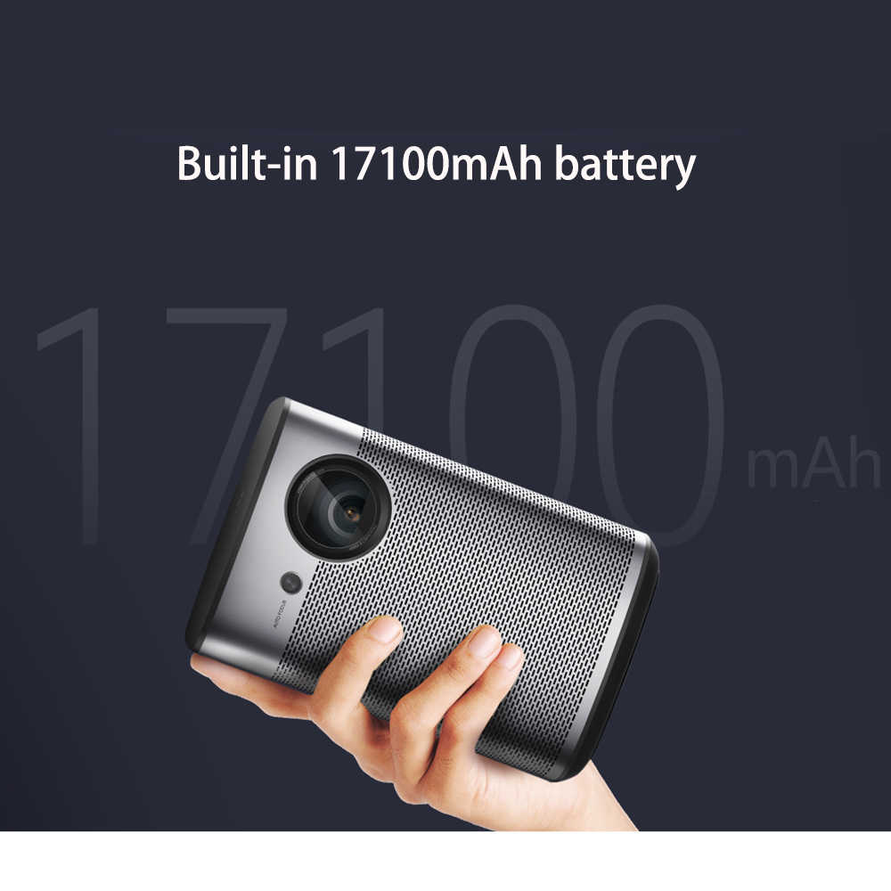 XGIMI Halo DLP Mini Proiettore Android 9.0 Wifi Portatile di Supporto 4K 3D Home Cinema Con La Batteria di SISTEMA OPERATIVO di Google Pieno HD