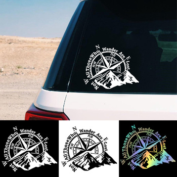 Fashion  Mountain Compass Car Sticker Vinyl Stickers Car-Styling Decals For Auto Decal Interesting Reflective Car Decoration  недорого
