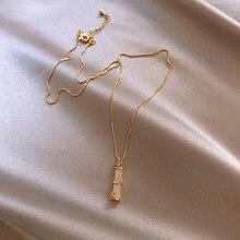 Novedad de 2020, gargantillas clásicas coreanas de bambú acrilico, collares para mujeres, moda geométrica, regalos de joyería De
