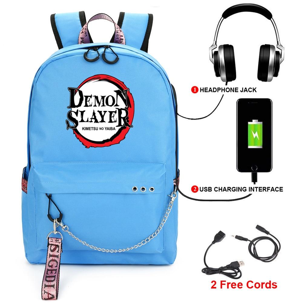 Demon slayer: kimetsu no yaiba backpack student kids school