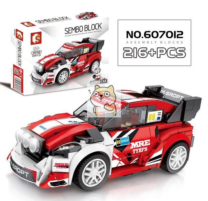Детские сборные игрушки знаменитый автомобиль супер бегущий гоночный маленькие частицы Волшебные блоки для сборки конструктор-головоломка - Цвет: 012