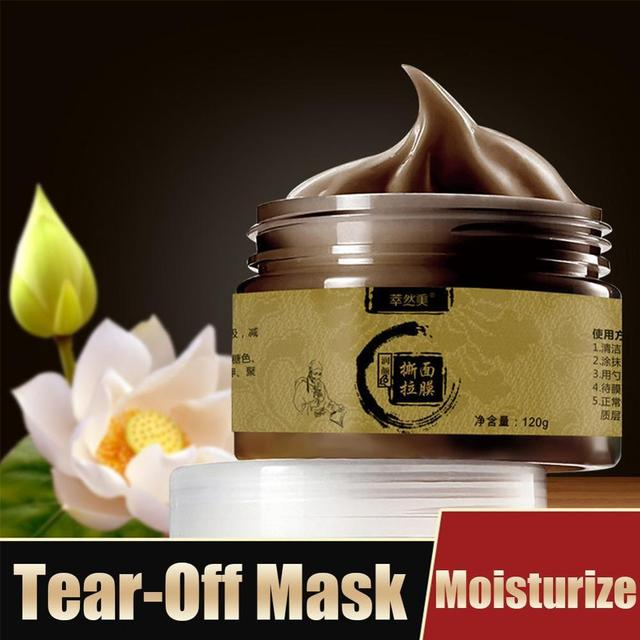 Herbal Beauty Peel-off Transitional Herbal Ginseng Black Head Peel Off Face-pack Clean Pores Blackheads Face-pack 2