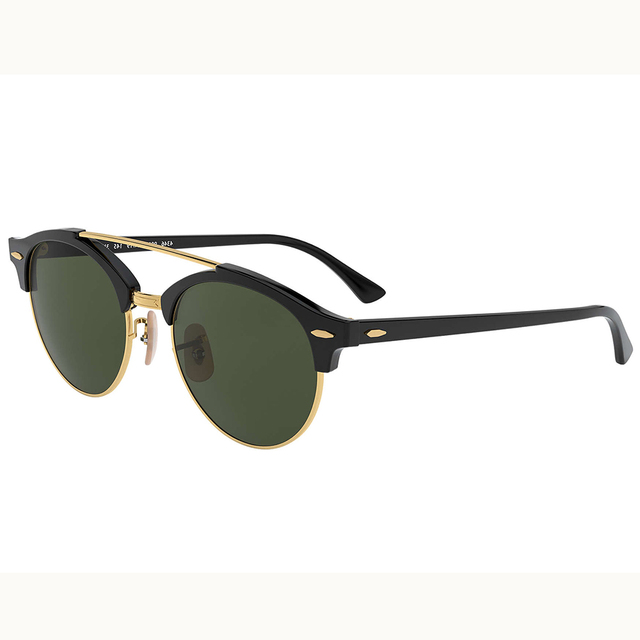 Unisex Real Glass Half Frame Cateye Sunglasses