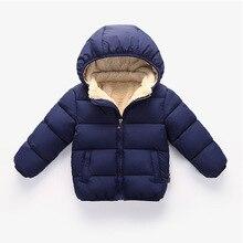 Детское зимнее утепленное пальто; зимние куртки для детей; осенне-зимняя верхняя одежда со съемной шапкой; теплая зимняя одежда для младенцев