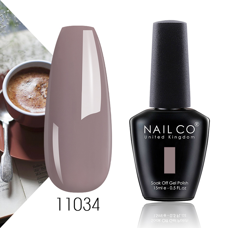 NAILCO Pink Nude Coffee Colors Series 15ml UV&LED Nail Art Gel Nail Polish Gel Lacquer lakiery hybrydowe Gel Varnishes For Nails(China)