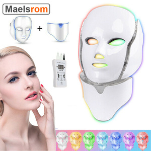 Electric 7 Colors Led Facial Mask Face Mask Machine Light Therapy Acne Mask Neck Beauty Led Light Treatment Skin Rejuvenation