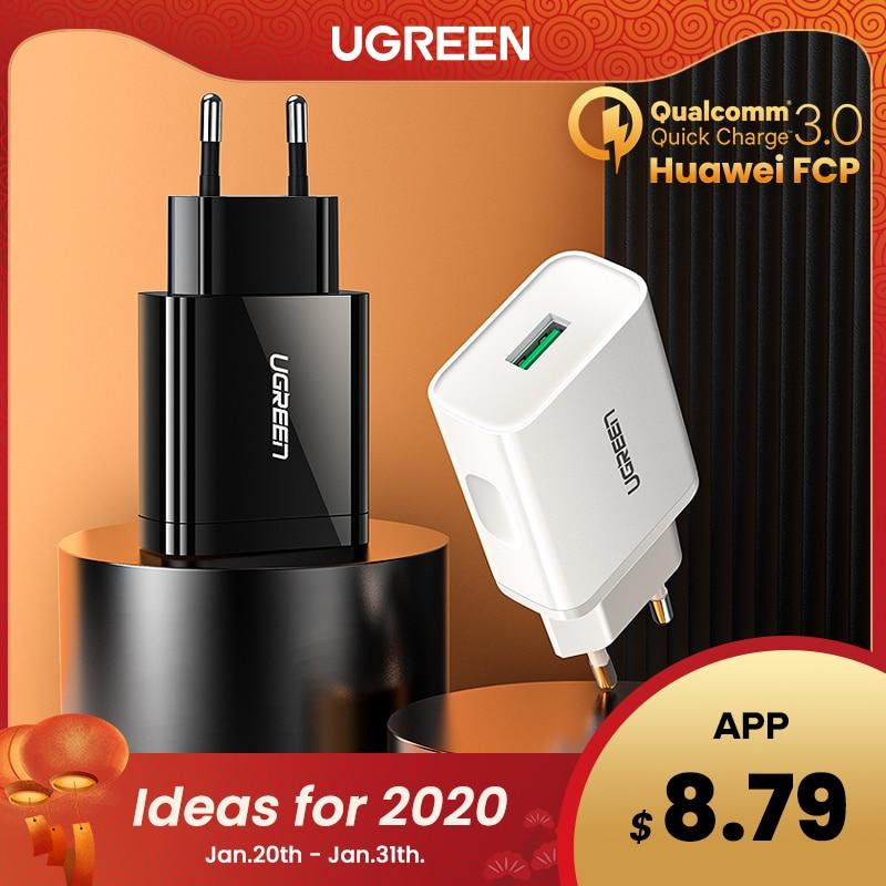 Ugreen Quick Charge 3,0 QC 18W USB Ladegerät QC3.0 Schnelle Wand Ladegerät für Samsung s10 Xiaomi iPhone Huawei Mobile telefon Ladegerät