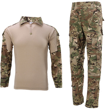Military Uniform Tactical Camouflage Clothes Suit Men US Army Clothing Women Airsoft Military Combat Shirt Cargo Pants Knee Pads 9