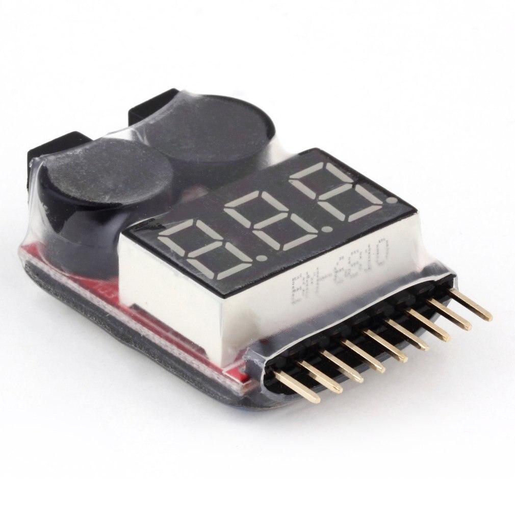 Тестер напряжения батареи 2 в 1 1 1 8S Lipo/li ion/Fe, низковольтный зуммер, датчик сигнализации для транспортных средств и игрушек с дистанционным управлением Детали и аксессуары      АлиЭкспресс