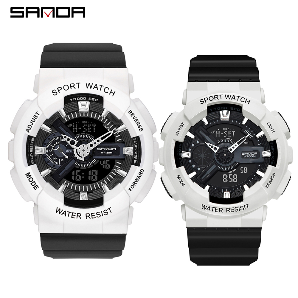 2020 SANDA Military Men's Watch Top Brand Luxury Waterproof Sport Wristwatch Fashion Quartz Clock Couple Watch relogio masculino 26