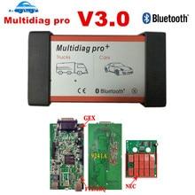 Multidiag pro com bluetooth v3.0 pwb vd tcs cdp pro mais 2017. r3 keygen obd2 ferramenta de diagnóstico para carro/caminhão