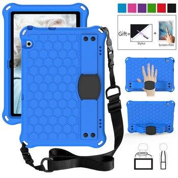 Pokrowiec dziecięcy do Huawei Mediapad T3 T5 10 10.1 calowy Tablet pasek na rękę EVA odporny na wstrząsy pokrowiec na całe ciało do tabletu Huawei Honor 5