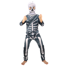 Costume Kids Sweater Scary Party-Dress Cosplay Skeleton Boys for Coat Horror-Props Skull-Trooper
