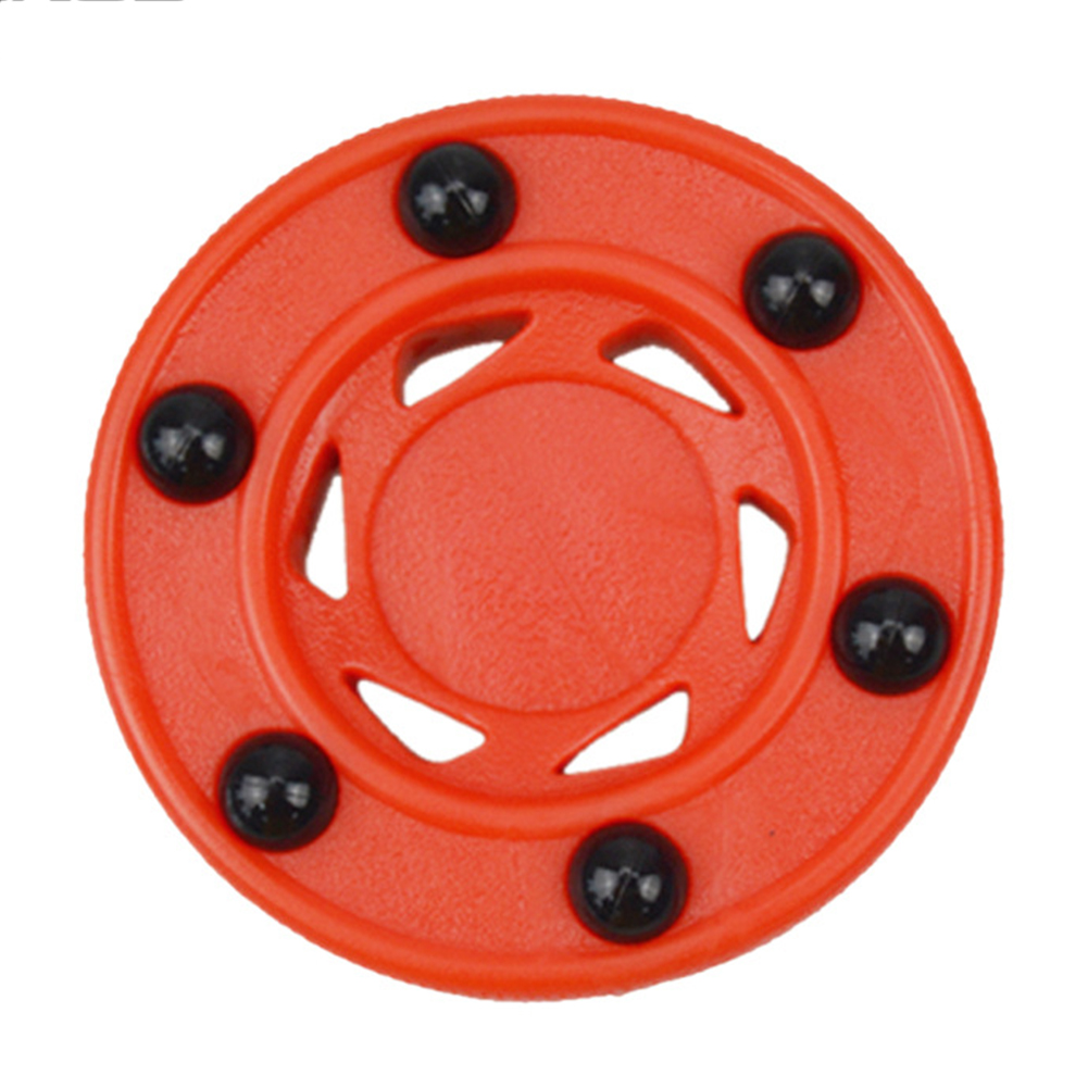 Professional Durable Roller Hockey Puck Accessories Anti Roll Wheels Perfectly Balance High Density Orange For Ice Inline Street