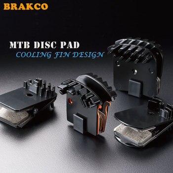 BRAKCO Yunjie semi-metal refrigeración separada para hacer el freno de disco de bicicleta de carretera MTB alto frenado resistente al desgaste pastillas de freno de refrigeración