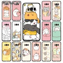 MaiYaCa Kawaii Molang Cartoon Anime kat Telefoon Geval voor Samsung Galaxy S10 S10E S6 S7 S8 S9 Plus S10lite S5 m10(China)