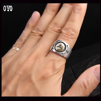 Taurus Silver Ring Indian Style S925 Sterling Silver Men's Ring Man Style Bull Head Ring Free Shipping