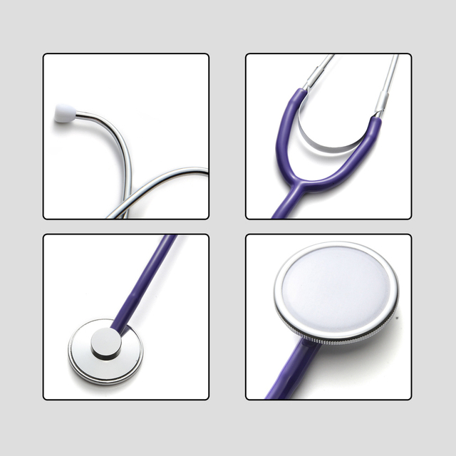 Portable Single Head Stethoscope Professional Cardiology Stethoscope Doctor Medical Equipment Student Vet Nurse Medical Device 3