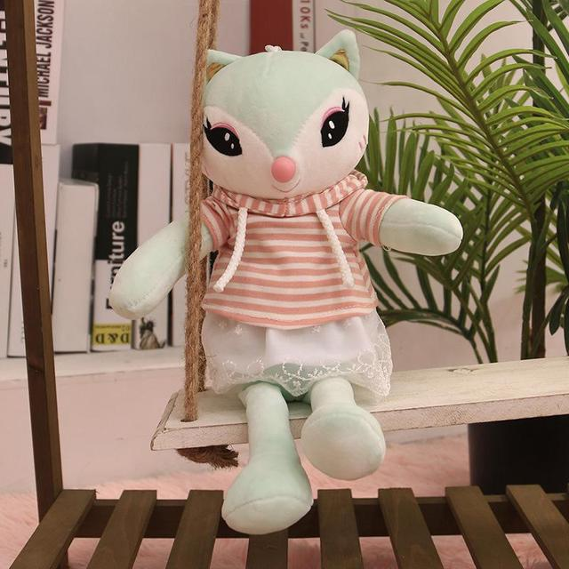 LeadingStar Plush Doll Cartoon Fox Lovely Toy Kids Christmas Gift Throw Pillow Home Car Decoration