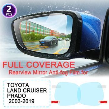 KULEOU Full Cover Anti Fog Rainproof Film Rearview Mirror Films for Toyota Land Cruiser Prado 120 150 J120 J150 2003~2019 image
