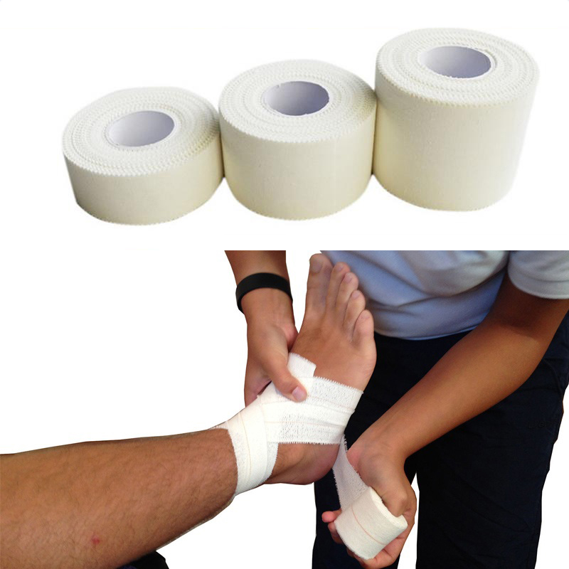 Cotton White Medical Premium Adhesive Tape Sport Binding Physio Muscle Elastic Bandage For Post-Surgical Incisions Wound Care