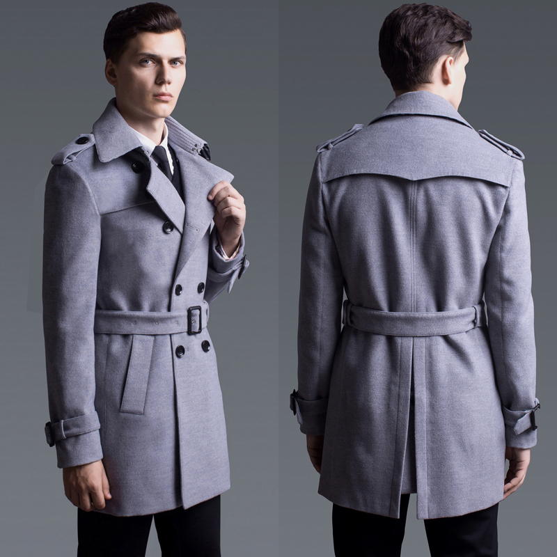 Coat Luxury Cashmere Solid Color Double Breasted Mens Jacket Plus Size 5XL 6XL Fashion Slim Fit Wool Man Trench