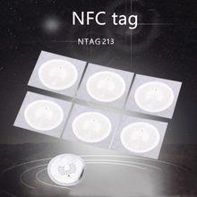 10 pces rfid chave token patrulha nxp mifare ultralight tags nfc ntag213 etiqueta etiqueta 13.56mhz ntag 213 etiqueta universal