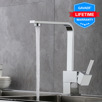 Gavaer Filter Kitchen Faucets Hot and cold Pure Water Sinks Tap  Single Hole Swivel Kitchen 360 Degree Bend Water Mixer Faucets