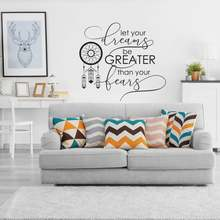 Inspirational Wall Decal Quote Sticker Let Your Dreams Be Greater Than Fears Vinyl Art Home Decor Stickers Z238