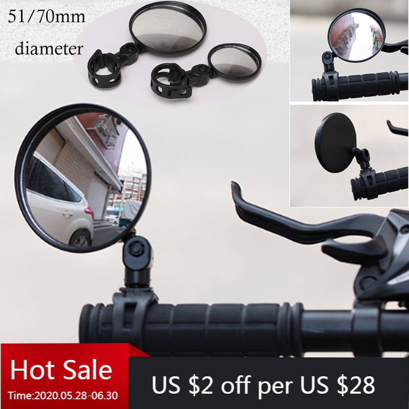 1PC Round Bicycle Rearview Handlebar Mirrors Mountain Bike Cycling Rear View Mirror Wide Angle Convex Mirror Bicycle Accessory