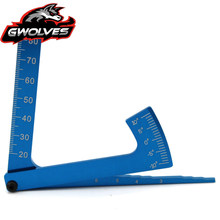 Dropshipping 3 in 1 camber gauge Height wheel diameter measure RC tools for 1/10 1/8 GT Buggy drift Monster truck Crawler Scale rc car aluminum alloy 3 in 1 camber gauge set up tool chassis suspension wheel camber ride height 1 8 1 10 rc car blue