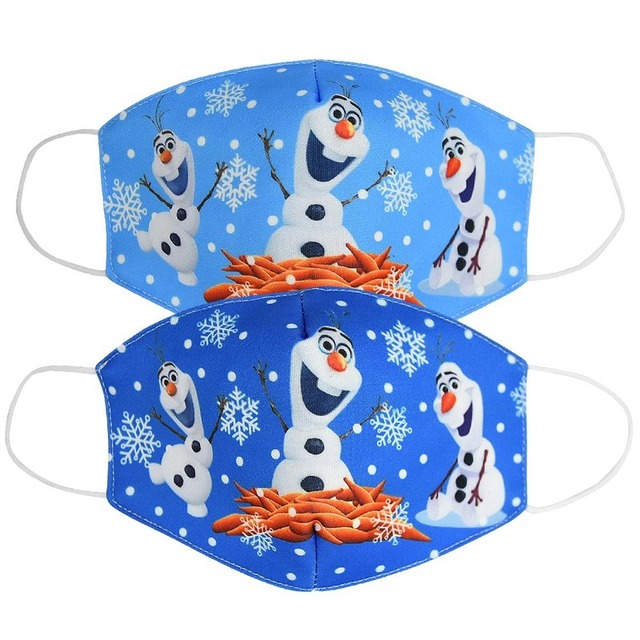 2020 New  Disney Frozen Multi-Style Anime Cartoon Cottons Mouth Mask Anti Dust  On Face For Adult Kids Children Respirator 4