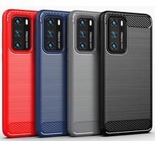Carbon fiber Silicone Case for Huawei P40 Pro+ plus P30 lite Case for Huawei Mate 30 20 Pro soft Case on mate30 pro mate20 Cover hit color frosted case for huawei p40 pro mate30 mate 30 pro p30 pro luxury shockproof case for honor v30 pro soft silicone new