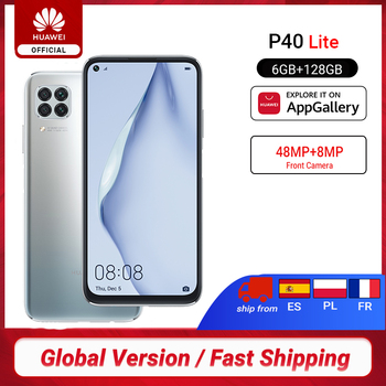 Перейти на Алиэкспресс и купить Глобальная версия Huawei P40 lite смартфон 6 ГБ 128 ГБ 48 МП AI камеры 16 МП фронтальная камера 6,4 ''экран Kirin 810