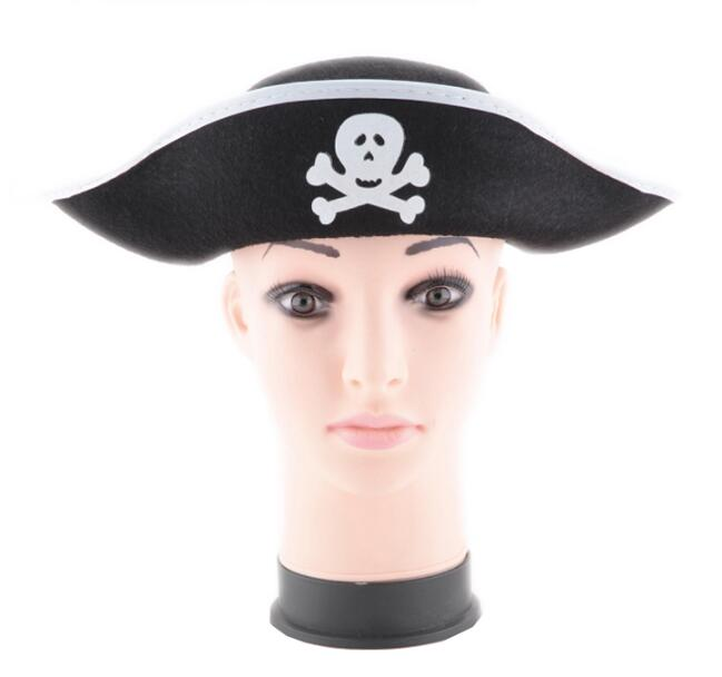 Pirate Captain Hat Skull & Crossbone Design Cap Costume For Fancy Dress Party Halloween Polyester 2020 Cos Prop